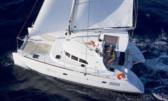 Luxury Charter Catamaran Lagoon 380 In Sani