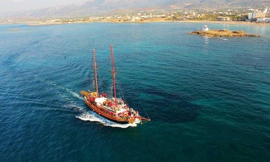 Black Rose Pirate Boat In Greece