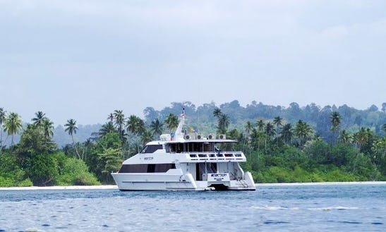 Hire Mv Addiction Surfing Luxurious Catamaran In North Jakarta