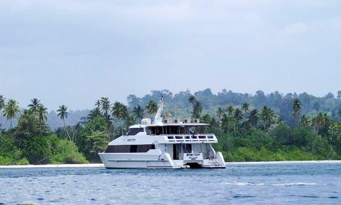 Hire MV Addiction Surfing Luxurious Catamaran in North Jakarta