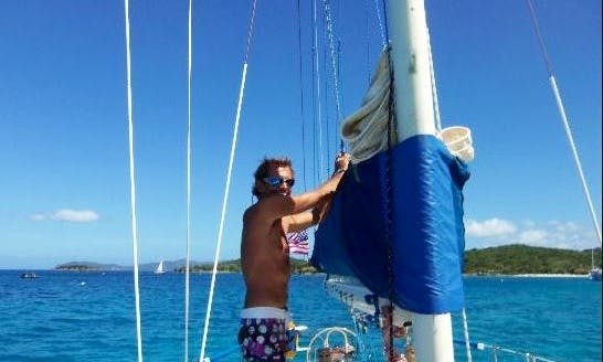 """Sailing Adventure with Captain Rich on """"Jester"""" in the U.S. Virgin Islands"""