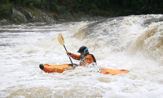 Kayak White Water Clinic On Chattooga River, Georgia