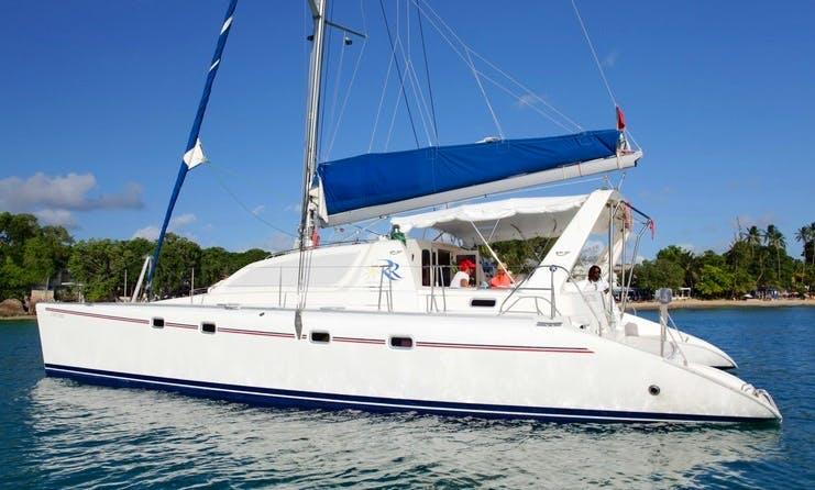 "47ft ""Second Chance"" Sailing Catamaran Boat Charter in Bridgetown, Barbados"