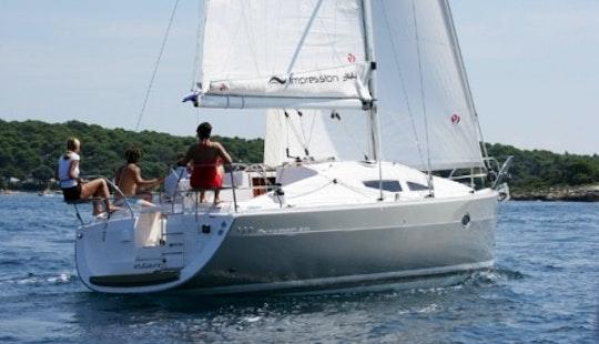 34ft Elan 344 Impression Cruising Monohull Boat Rental In Barcelona, Spain