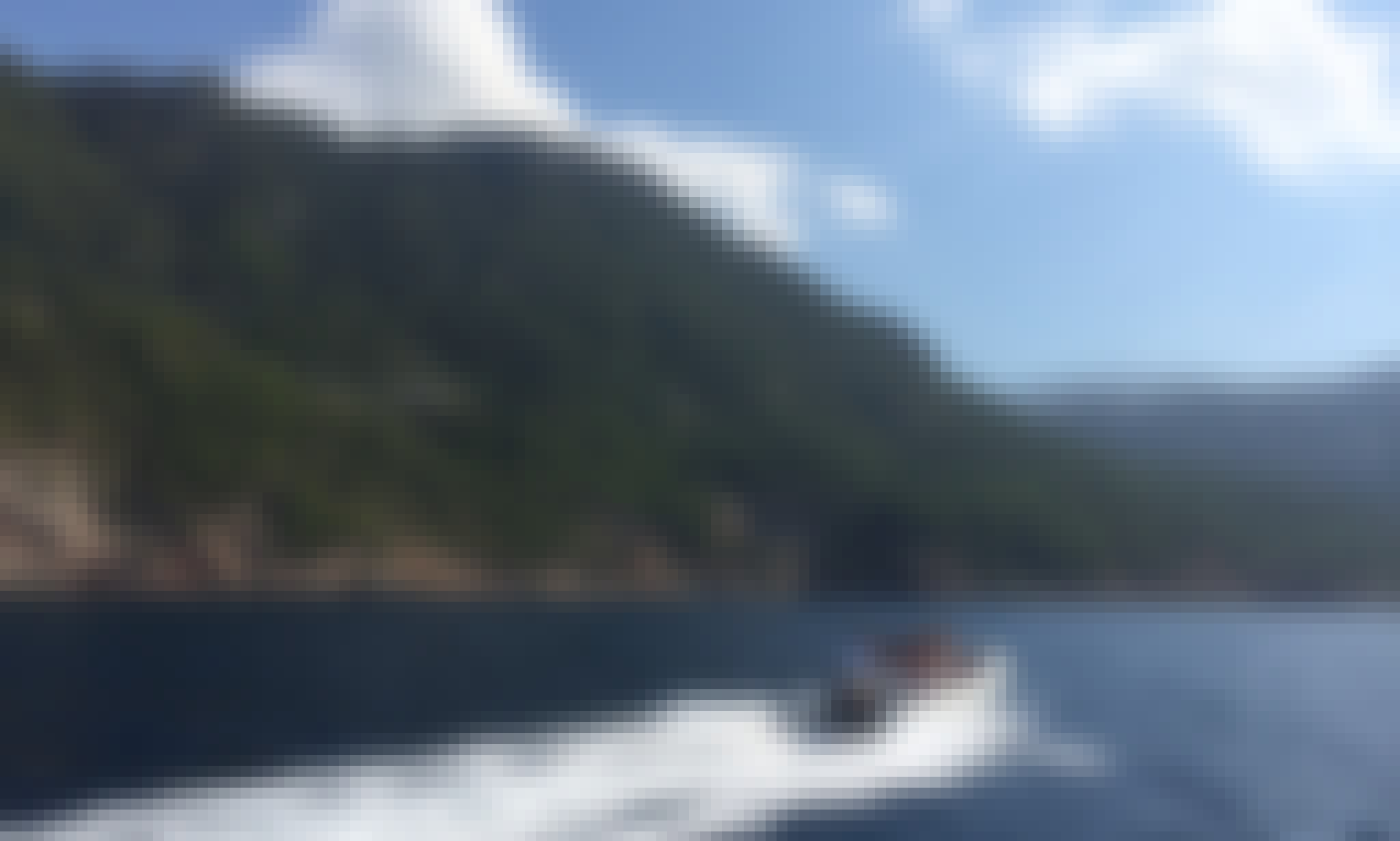 Quicksilver 450 Semi-Rigid Inflatable Boat for Hire in Port de Sóller, Spain