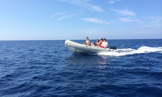 Quicksilver 450 Semi-rigid Inflatable Boat For Hire In Port De Sóller, Spain
