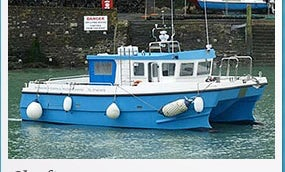 Twin 315 Hp Engines Bluefin Yacht from Ilfracombe Harbour