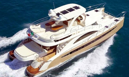 Charter 65' Rodriguez Power Catamaran In Miami, Florida