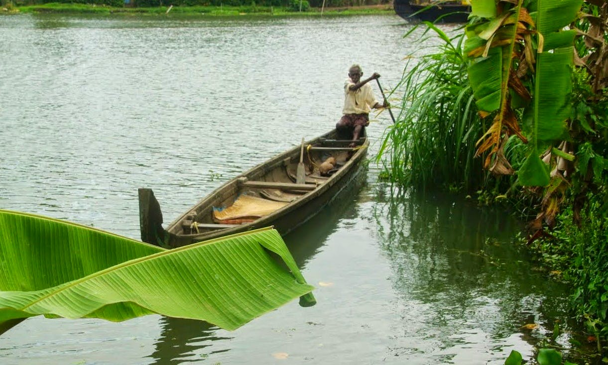 Backwaters Village Exploration in Alappuzha, India