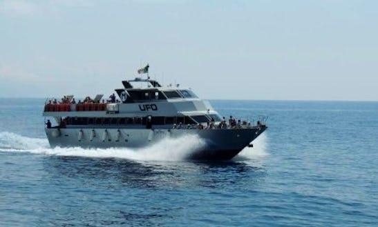 Passenger Ferry Boat In Rapallo