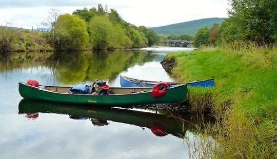 Canoeing In Keswick, Uk