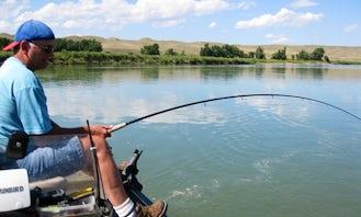 Guided Sturgeon Fishing Trips in Medicine Hat Alberta, Canada