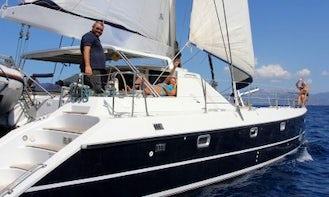 Cruise Aboard a Privilege 45 Sailing Catamaran for 10 Person in Greece