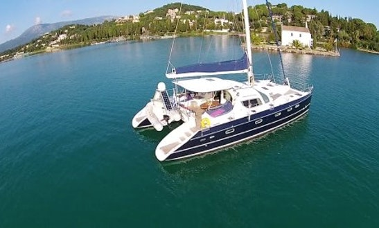 Charter The Alliaura Privilege 495 Cruising Catamaran In Kontokali, Greece For 8 People