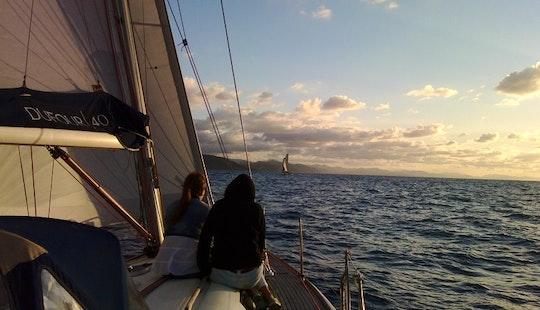 Cruising Monohull Charter Fireworks In San Sebastian
