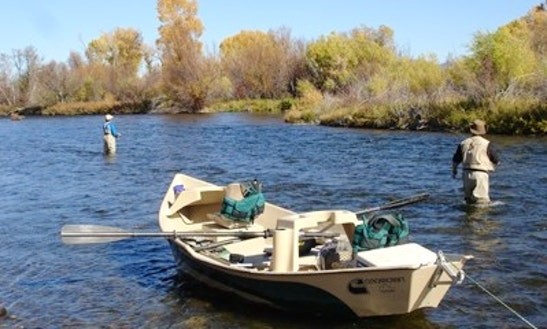 Fly Fishing Drift Boat In Bozeman