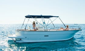 25 ft Gozzo 780 Inboard Propulsion Rental for 13 People in Forio, Italy