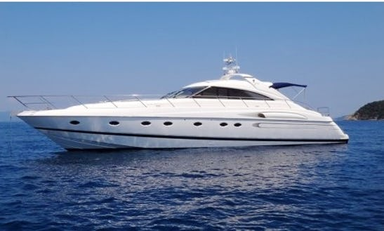 Twin Engine Princess V65 Yacht Rental In France