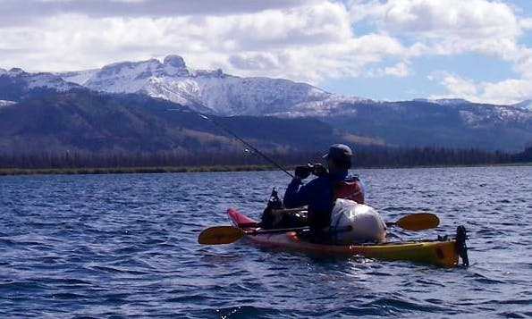 Kayak Fishing Trip in Jackson Wyoming