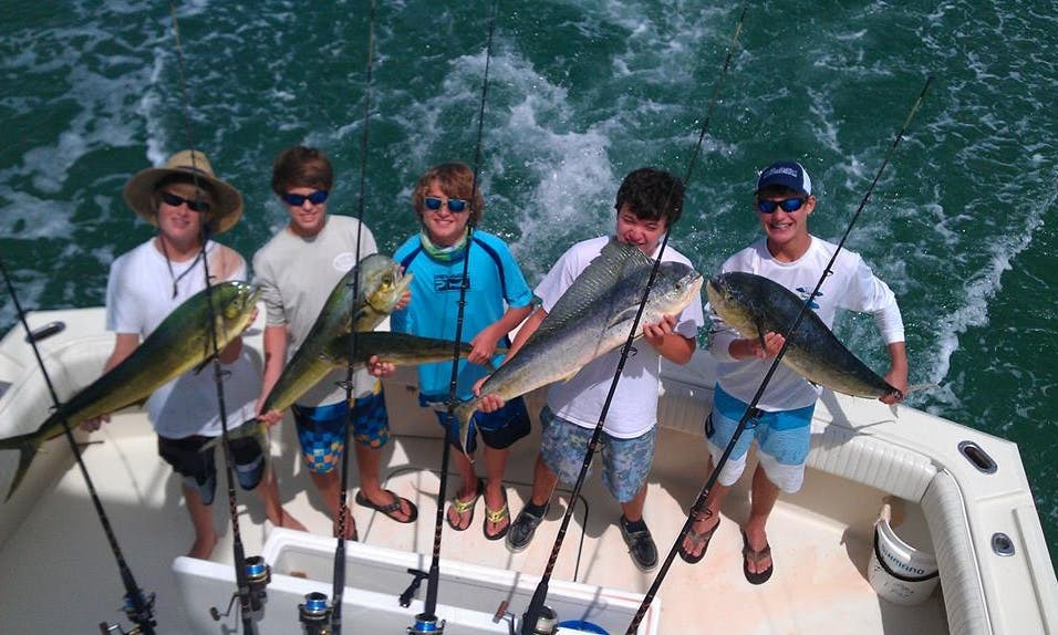Fishing Charter on 53' Hatteras in Islamorada, Florida