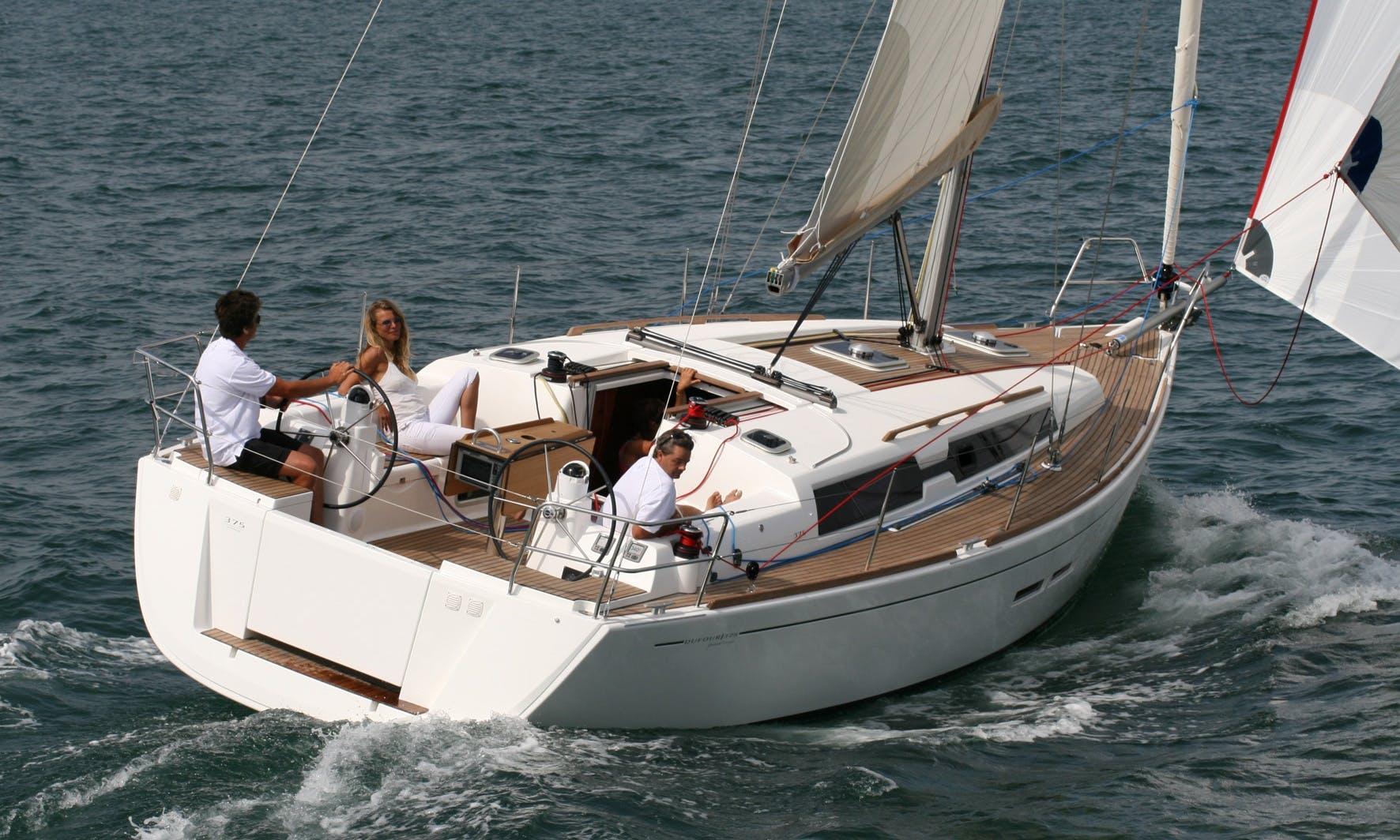 Luxury Dufour 375 GL Monohull Charter in Spain