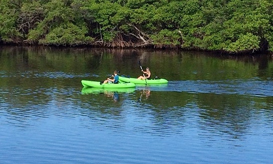 Sit On Top Kayak Rental In North Palm Beach, Florida.