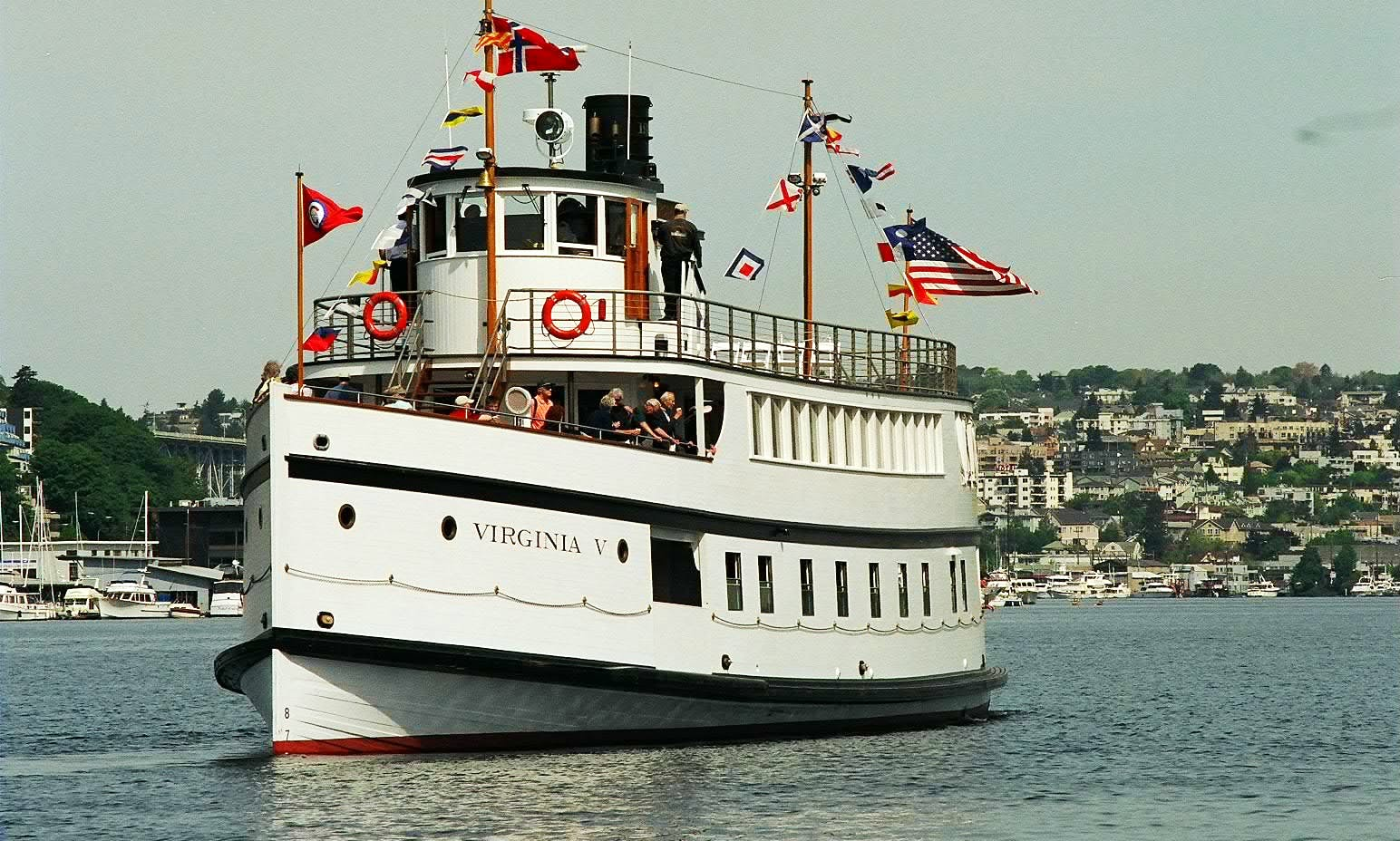 """The Steamer Virginia V"" Passenger Boat Rental in Seattle, Washington"