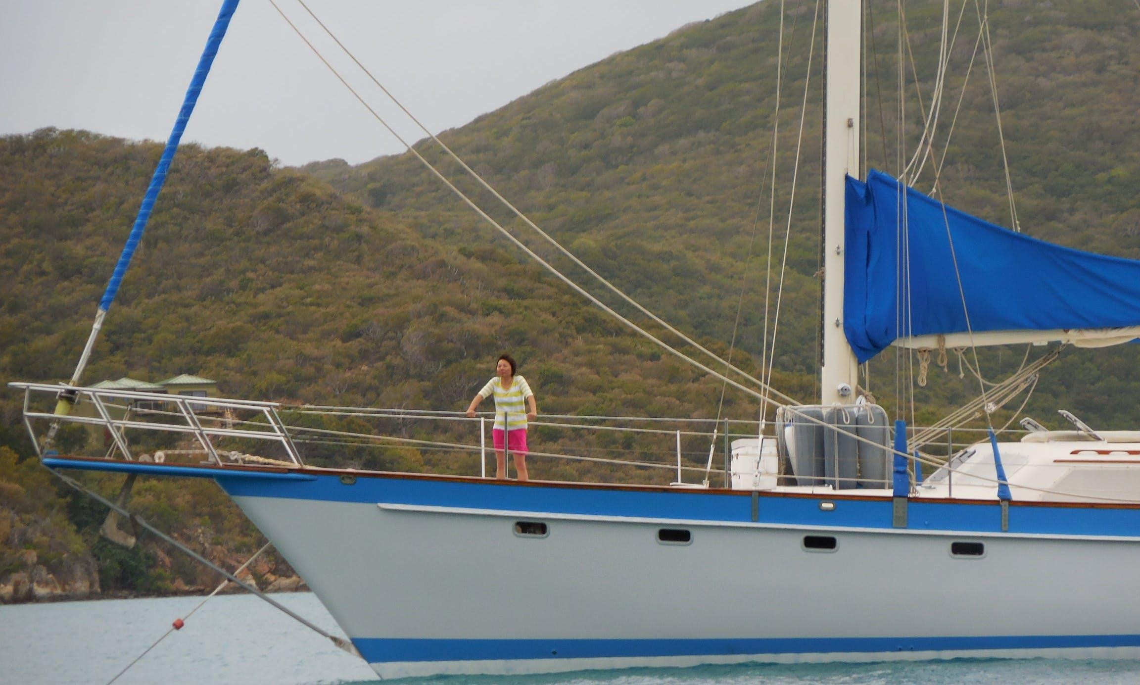 72 ft Cruising Monohull Charter for 4 Peopl in St. Thomas, US Virgin Islands