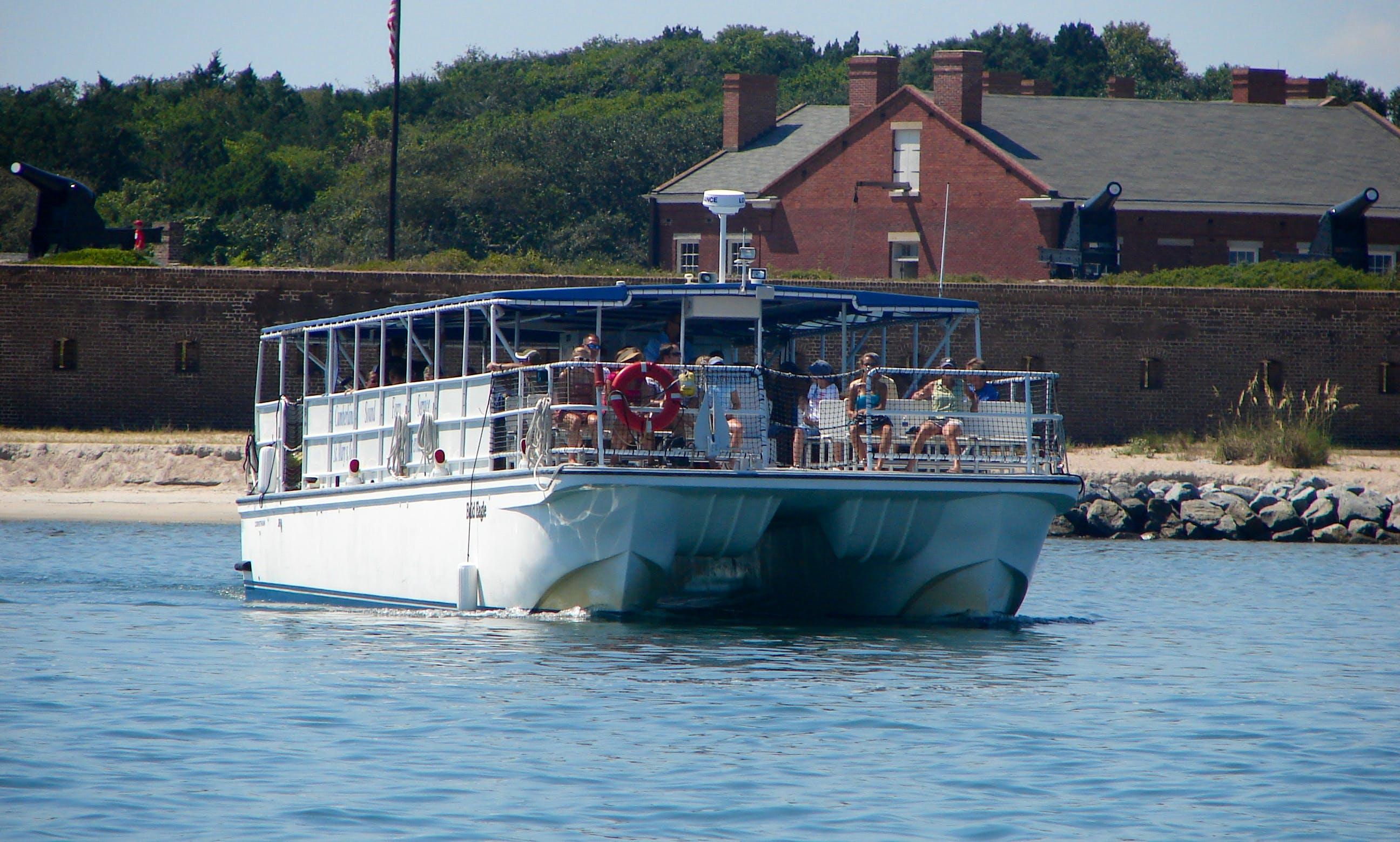 59ft Pontoon Boat Rental in Fernandina Beach, Florida