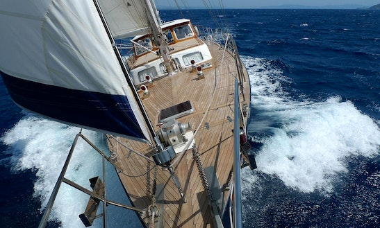 Classic Sailing Yacht In Saint Georges