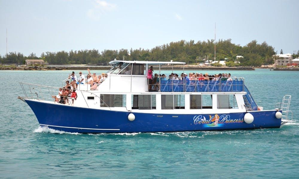 65' Glass Bottom Motor Cruiser Charter