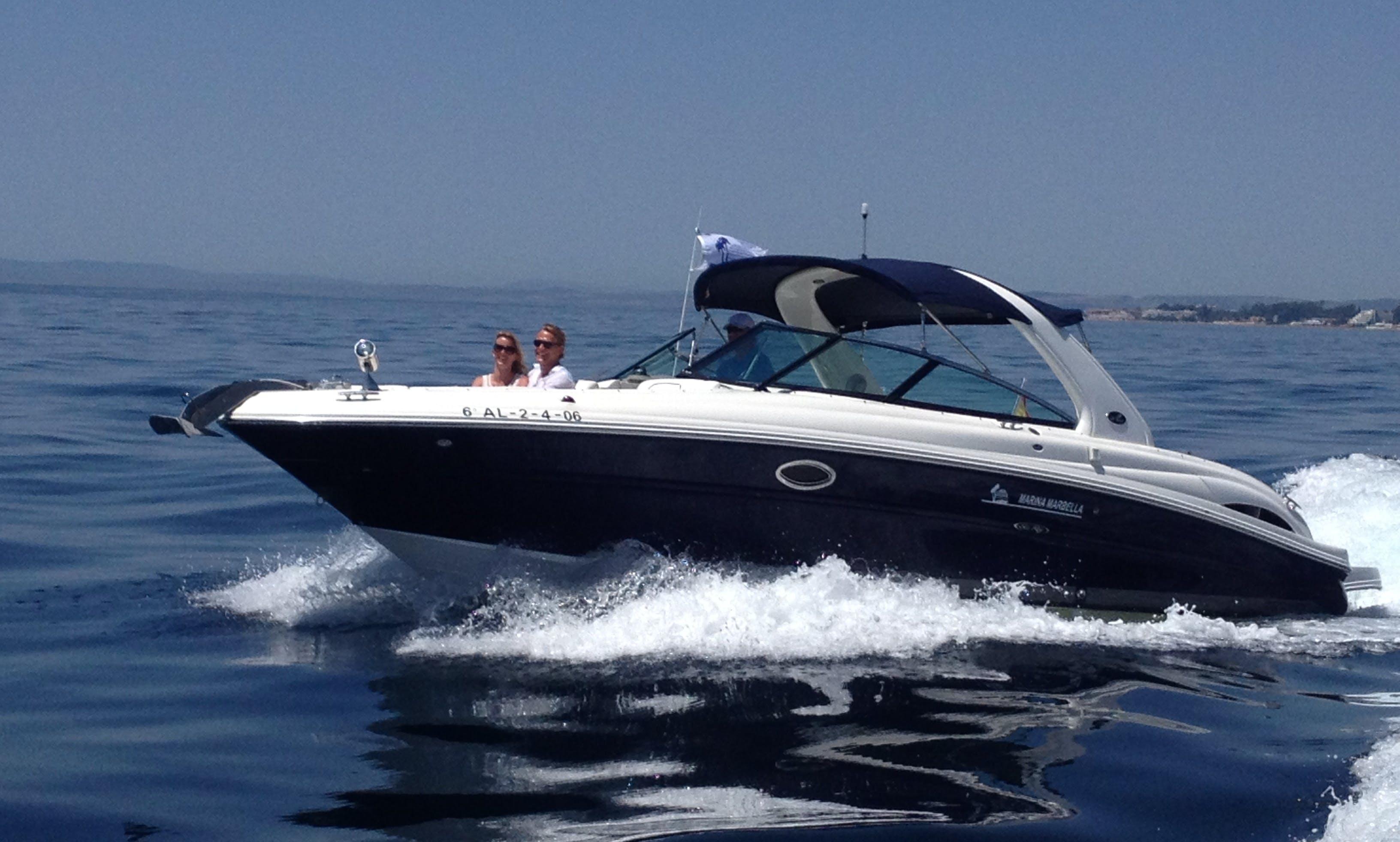 Sea Ray 295 SLX boat charter in marbella