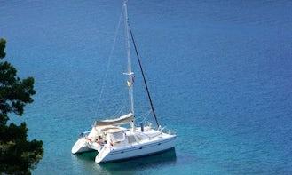 Privilege 37 Cruising Catamaran with twin Yanmar 27 hp engine in Kontokali