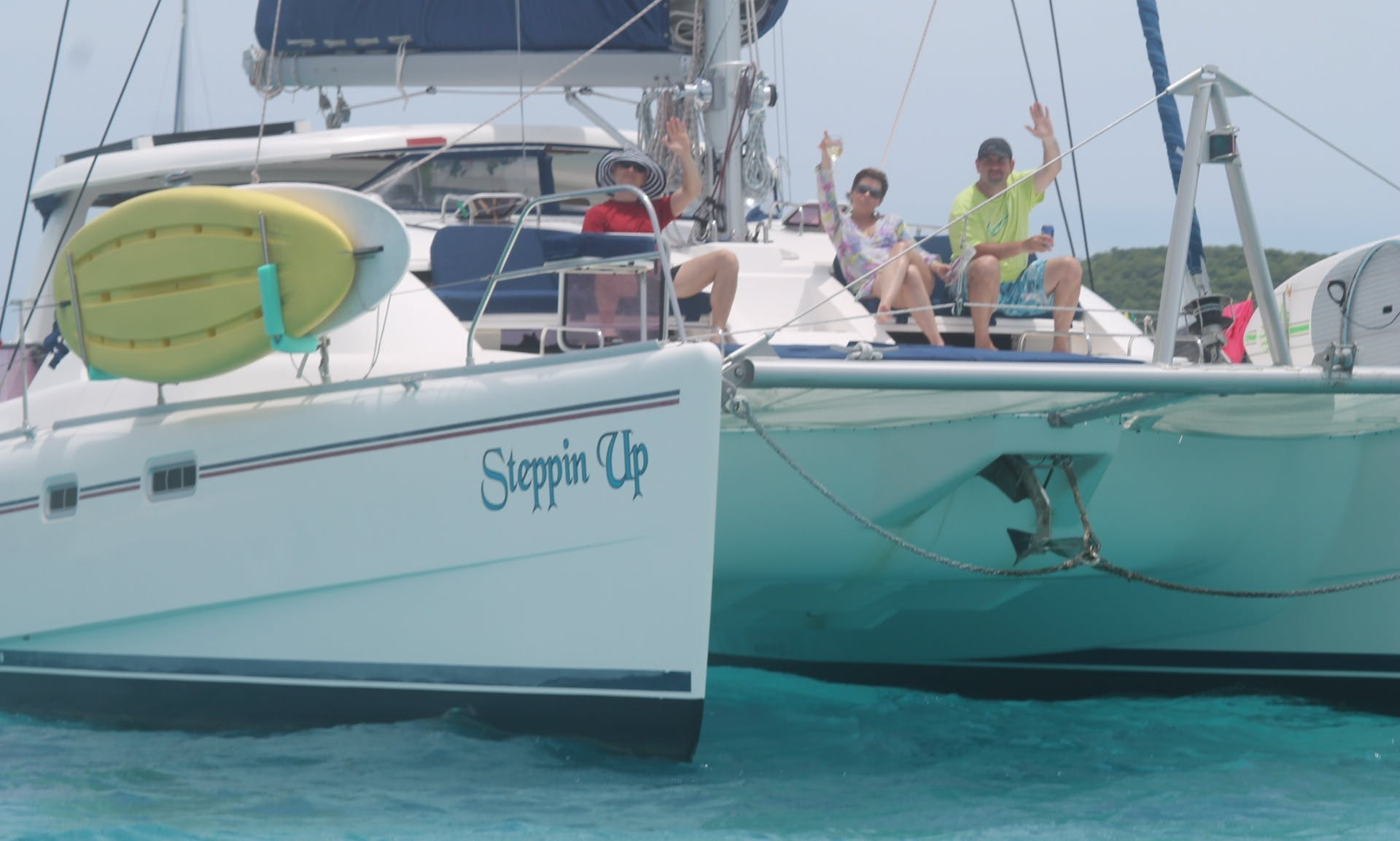 "Charter the 43' Catamaran ""Steppin Up"" in Charlotte Amalie"