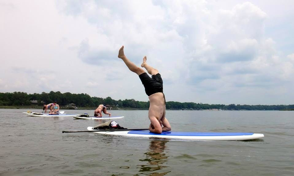 Stand Up Paddleboarding Yoga in Bluffton