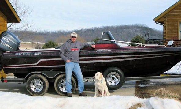 20' Bass Boat Charter in Mazomanie, Wisconsin