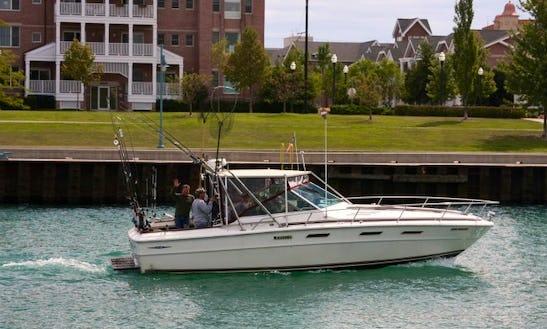 Fishing Charter On 32' Sea Ray Yacht In Kenosha, Wisconsin
