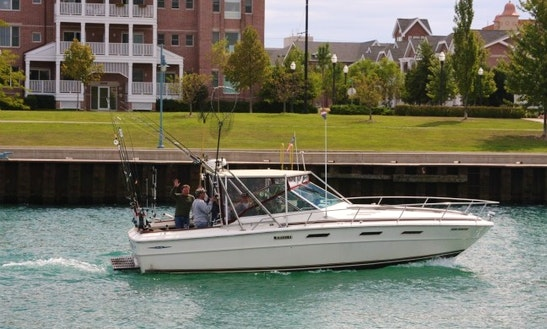 Fishing Charter On 32' Sea Ray Yacht In Kenosha, Wisconsin