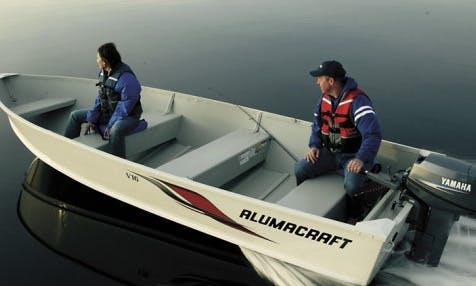 16ft Alumacraft Fishing Boat Charter In Elkhart Lake, Wisconsin
