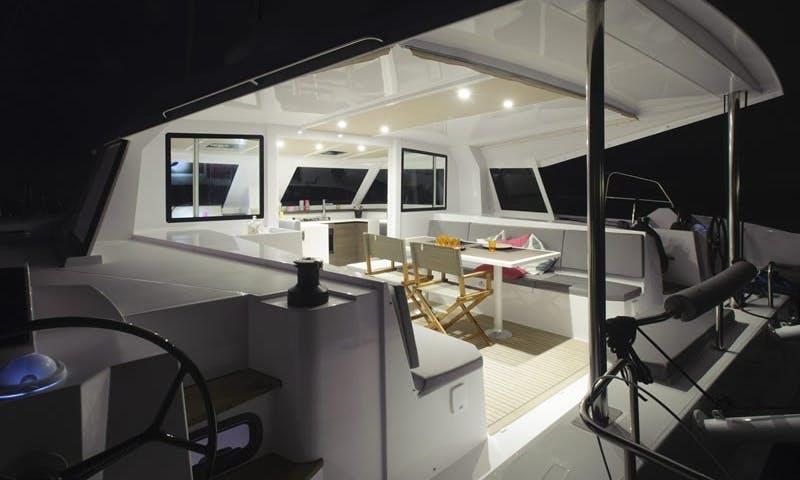 Cruising Catamaran 'OPEN 40' Charter in Haute-Normandie