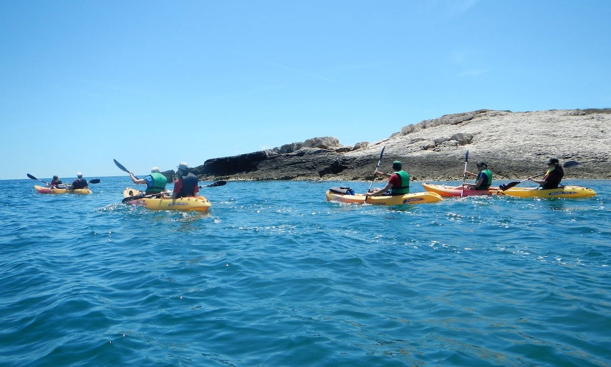 Full day kayaking in Premantura, Cape Kamenjak