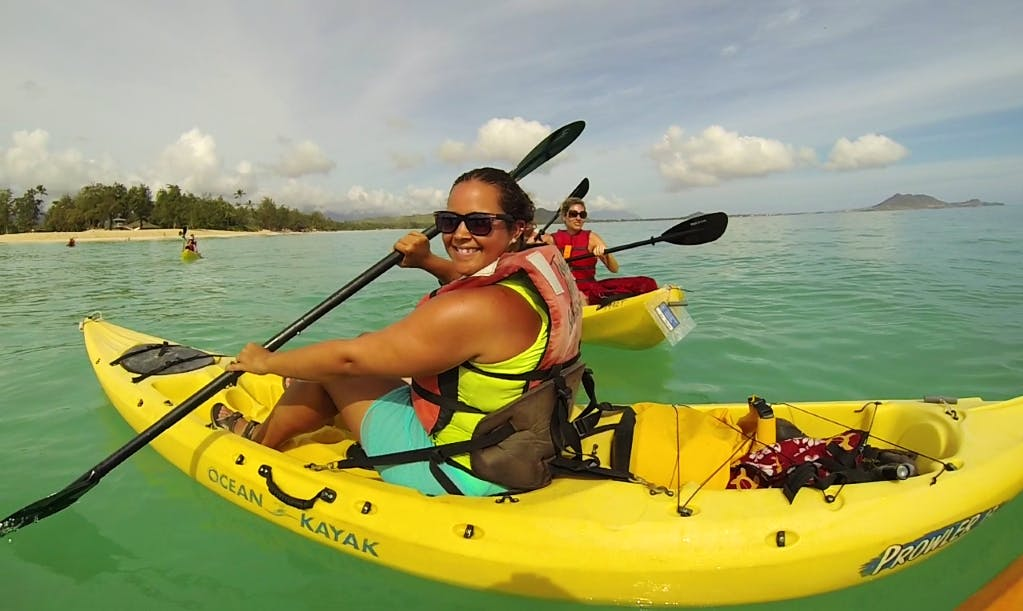 Explore the waters of Kailua, Hawaii on this Kayak