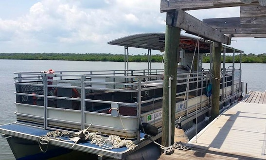 40ft Pontoon Boat Charter In New Smyrna Beach, Florida