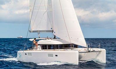 "Cruising Catamaran Lagoon 39 ""Tortola"" Charter in Soúrpi"
