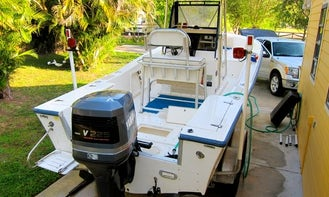 Well maintained 21ft Mako Center Console for fishing and hunting!