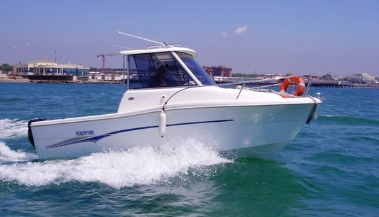 18ft Aquamar Aquatim 550 Sport Fisherman Rental In Tarragona, Spain
