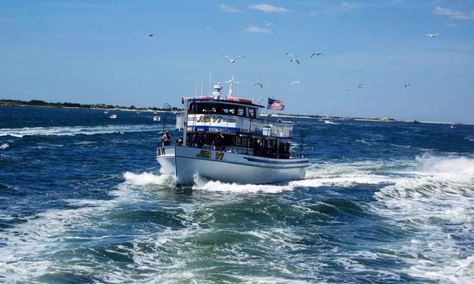 "Fishing Charter On 65ft ""Jib VI"" Head Boat In Bay Shore, New York"