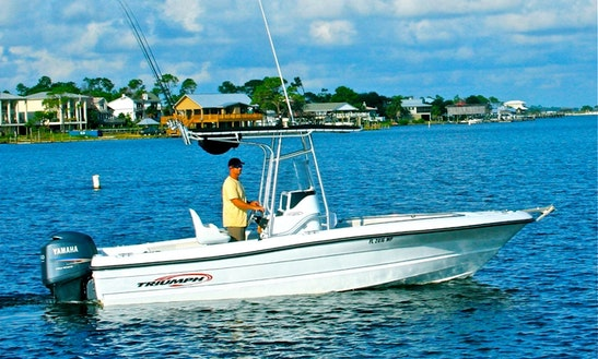 Enjoy Fishing In Orange Beach On 21' Center Console