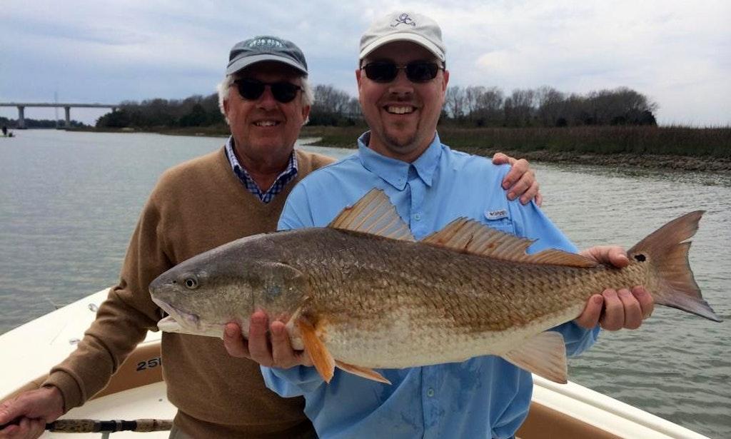 Charleston fishing charter with captain james on 25ft for Charleston fishing charters