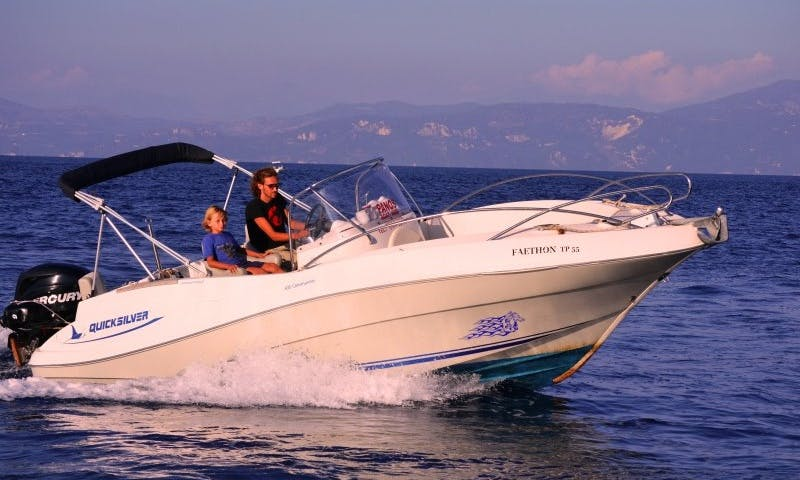 Quicksilver 635 Commander, Speed Boat Rental in Paxi, Corfu, Greece